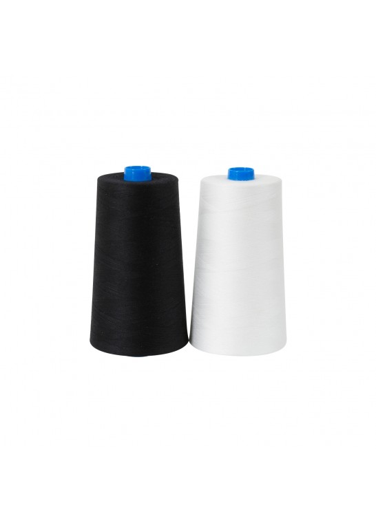 Fil extra fin pour canette sur cône blanc / noir