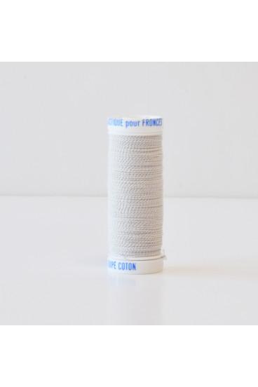Fil à coudre élastique 20m blanc naturel